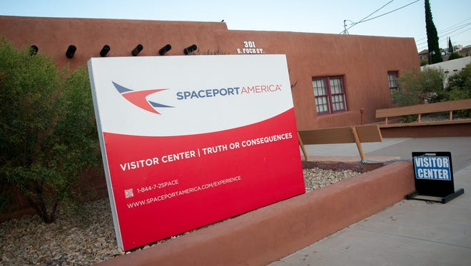 The Spaceport America Visitor's Center in Truth or Consequences.
