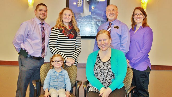 Pictured, back row, from left, are members of the RE/MAX Heritage Children's Miracle Network Open golf outing committee: Gus Garcia, Elizabeth Thome, Rod Drendel and Lydia Reilly. Front row, from left, are Amelia Montonati, 2016 CMN Local Hero, and Sara Montonati, Children's Hospital of Wisconsin Regional Special Events Manager and Amelia's mom.