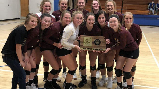 The Victoria volleyball team is headed to the state quarterfinals for the second straight year.
