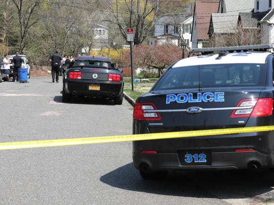 Mamaroneck police stand by as they investigate an incident