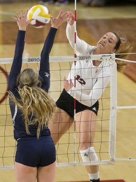 ASU volleyball senior hitter Macey Gardner is out for the season because of a major knee injury suffered Oct.  9.