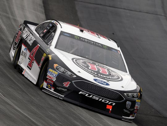 Kevin Harvick competes during the NASCAR Cup Series