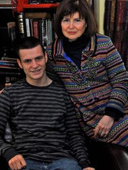 Will Cleeton-Gandino and his mother, Elaine Cleeton, of Pittsford.