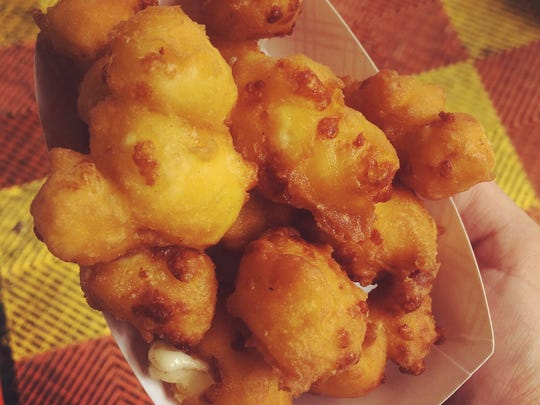 Fried cheese curds at the Iowa State Fair in Des Moines,