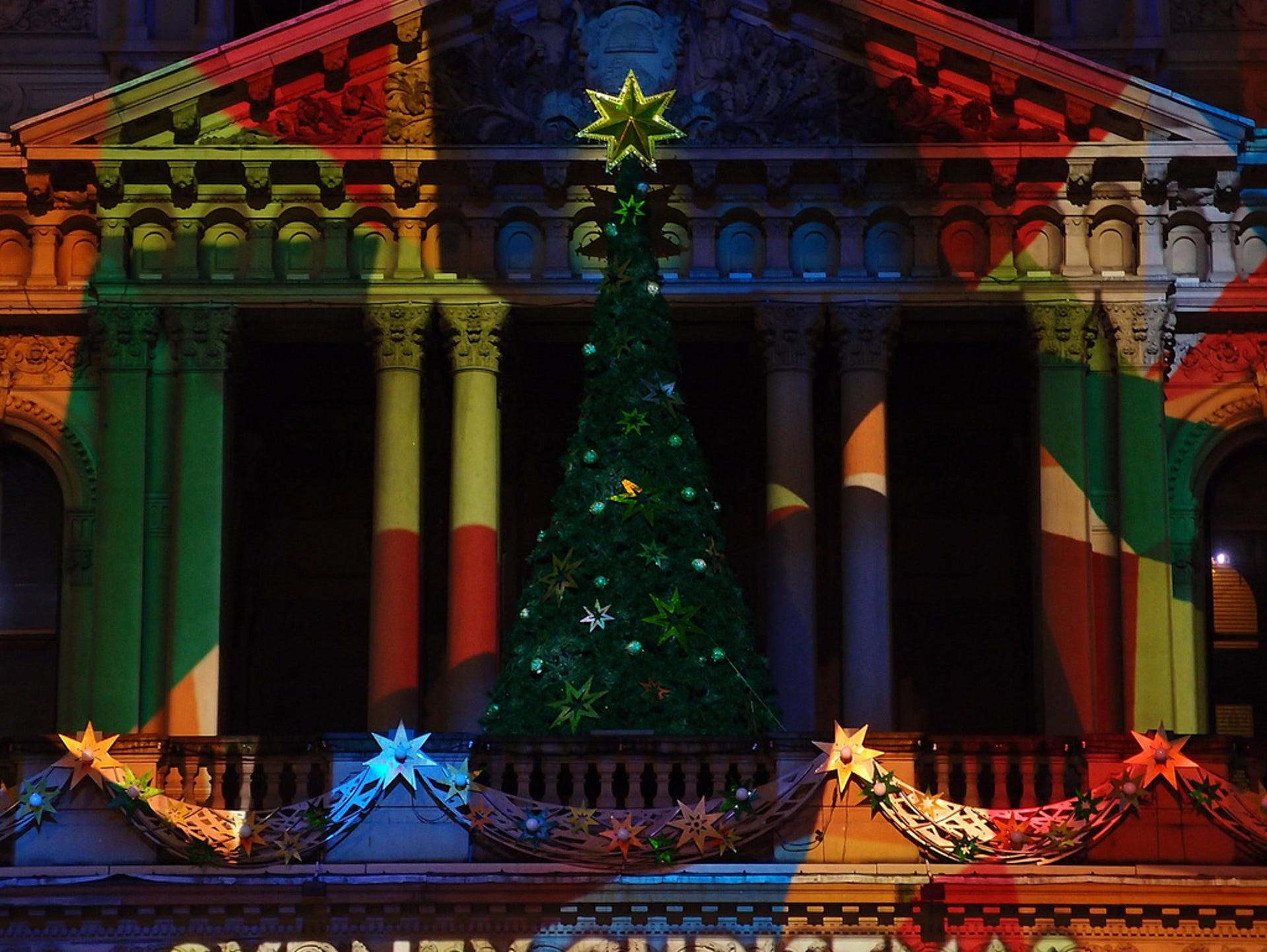 Merry Christmas from the festive Town Hall in Sydney,