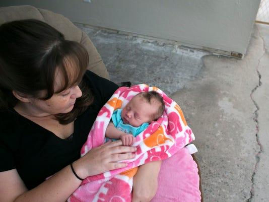 Joni and baby Dani