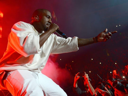 Kanye West performs onstage at the Power 106 Powerhouse