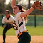 Morris Knolls pitcher Raelyn Giansanti pitches against Jefferson during their Thursday game in Denville.