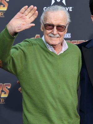 "Stan Lee attends the premiere of ""Avengers: Infinity War"" in April 2018."