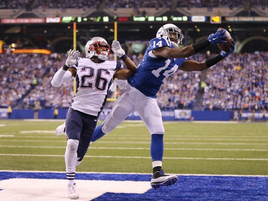 Hakeem Nicks pulls in one of his five TDs he scored this past season for the Colts (including playoffs).