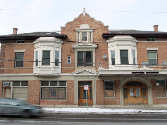 Exterior of the old Vitt and Stermer Funeral Home,