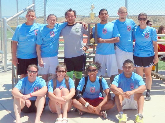 The Hooligans from Las Cruces were winners of the Co-ed Division during the Summer Kick-Off Soccer Tournament.