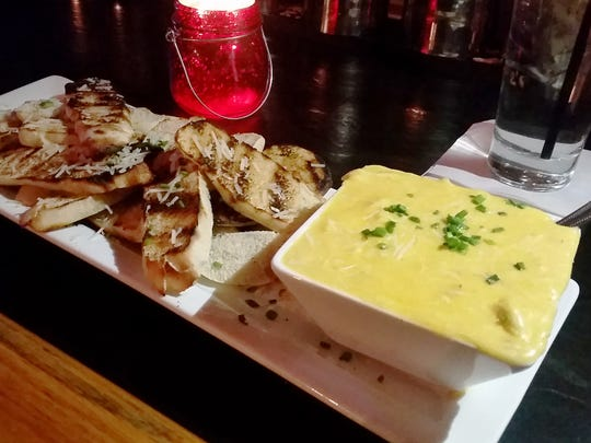 Genny Ale, Crab and Cheese Fondue from Tavern 58 at Gibbs.