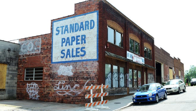 Buxton Hall, Vortex Doughnuts, Catawba Brewing and Public School are all under construction in the Standard Paper Sales building on Banks Avenue.  5/20/14- Erin Brethauer (ebrethau@citizen-times.com)