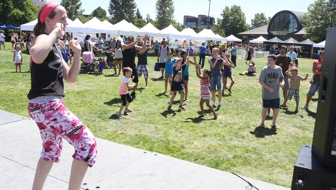 The Salem Family YMCA led Zumba for a crowd at Family Building Blocks' Riverfront Family Fest at Salem's Riverfront Park last year. The dance/exercise event returns this year.