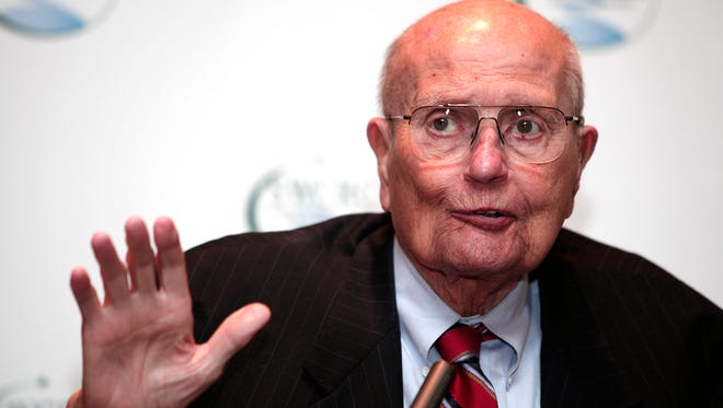 Rep. John Dingell , 87, the longest-serving member of Congress in U.S. history, announces his retirement at a luncheon Feb. 24 in Southgate, Mich.