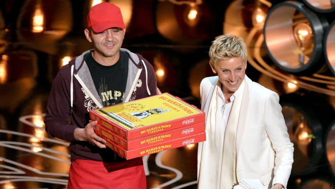 Host Ellen DeGeneres ordered pizza, and  Edgar Martirosyan, owner of Big Mama's and Papa's Pizzeria, delivered.