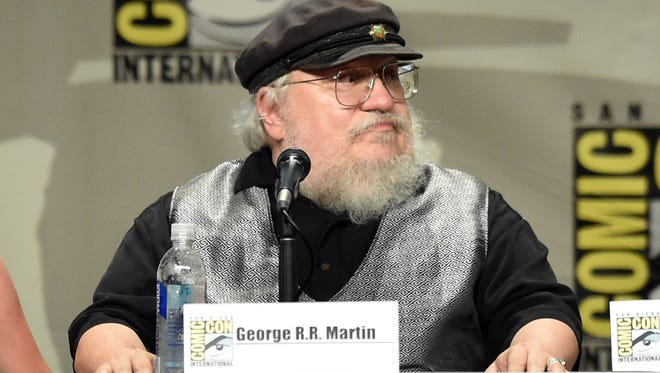 George R.R. Martin attends HBO's 'Game Of Thrones' panel during Comic-Con in July.