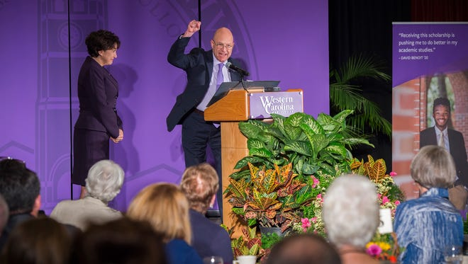 Western Carolina University Chancellor David O. Belcher and wife Susan Brummell Belcher have pledged $1.23 million in gifts for the university's ongoing efforts to provide increasing scholarship support to help deserving students in their pursuit of higher education.