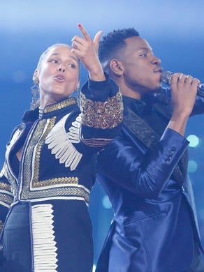 """Blue sang with his coach, Alicia Keys, on the Season 12 finale of """"The Voice."""" It was Keys' first and only win during her time as a judge."""