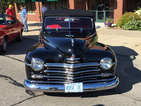Bill and Deb Riley of Sarnia brought a 1948 Plymouth