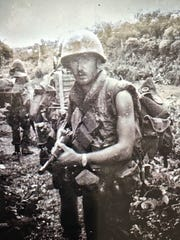 Dale Jeter, U.S. Army, in combat in the Vietnam War