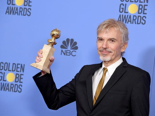 Billy Bob Thornton wins the Golden Globe for best actor in a TV drama for 'Goliath.'