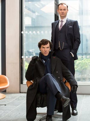 'Sherlock' stars Benedict Cumberbatch and Mark Gatiss play Holmes brothers Sherlock and Mycroft.