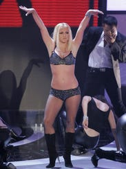 Britney Spears performs at the MTV Video Music Awards