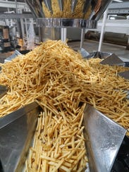 Jones Potato Stix are separated before packaging.