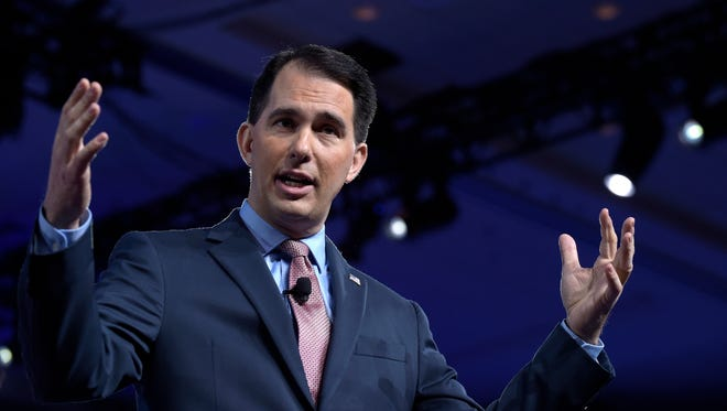 Wisconsin Gov. Scott Walker speaks Thursday at the Conservative Political Action Conference in Oxon Hill, Md.