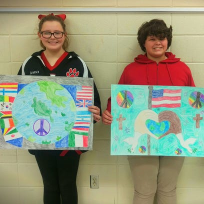 Three students from Lumberton Middle School recently