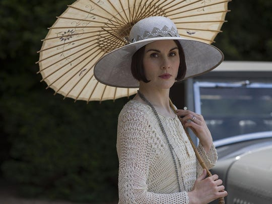 "Michelle Dockery starred as often acerbic Lady Mary on ""Downton Abbey."""