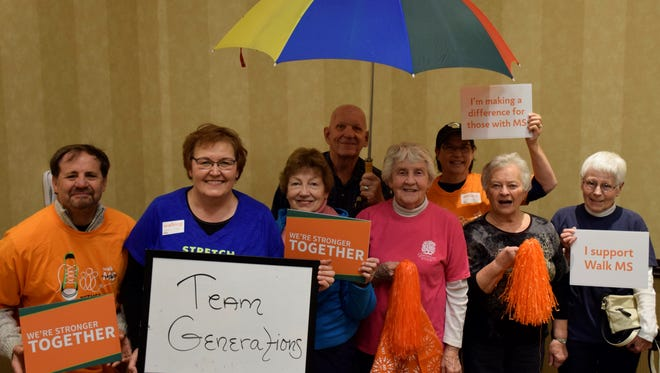 A local charity event late last month to gather funds for multiple sclerosis-related efforts met its goal of raising $37,000, organizers said.