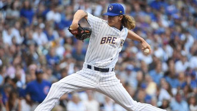 Brewers pitcher Josh Hader.