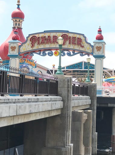 Disneyland's Pixar Pier opens in California Adventure, featuring a roller-coaster with groundbreaking effects, a new lounge and tons of new Pixar merchandise.