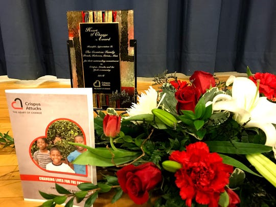 At the 87th annual Crispus Attucks meeting, the organization handed out its annual Heart of Change awards, honoring volunteers who have made significant contributions to Crispus Attucks.