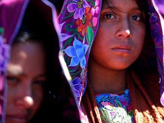 Indigenous women attend Mass celebrated by Pope Francis