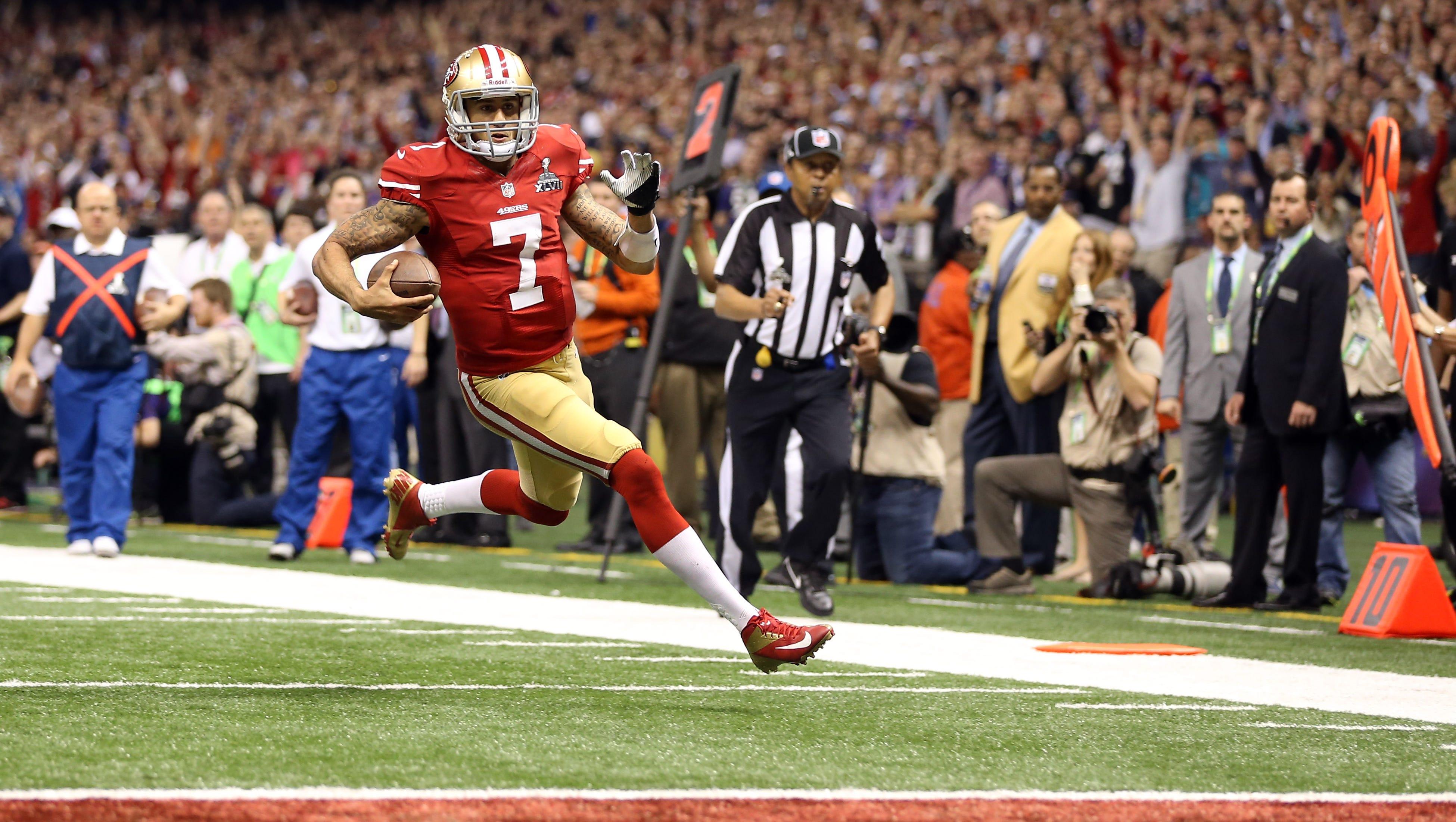 8. Colin Kaepernick,San Francisco 49ers