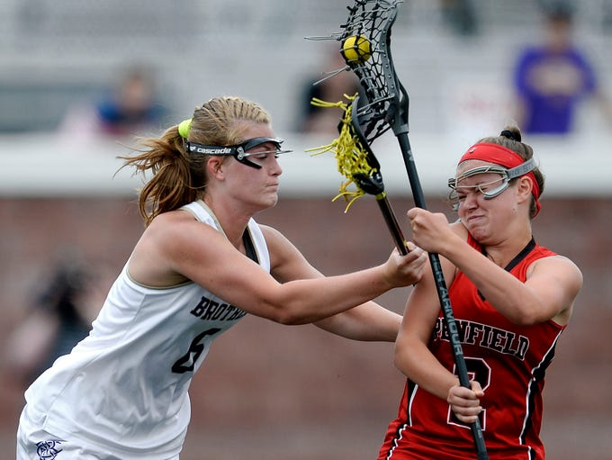 Penfield's Lucy Rugaber, right, is defended by CBA's