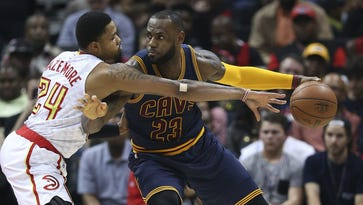 Kent Bazemore will likely draw the first assignment to guarding LeBron James in the Eastern Conference semifinals beginning Monday in Cleveland.