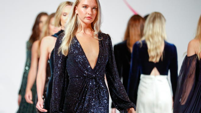 Designer Monique Lhuillier presented her Fall 2020 collection during a fashion show at The Breakers.