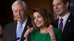 From left, House Minority Whip Steny Hoyer (D-MD),