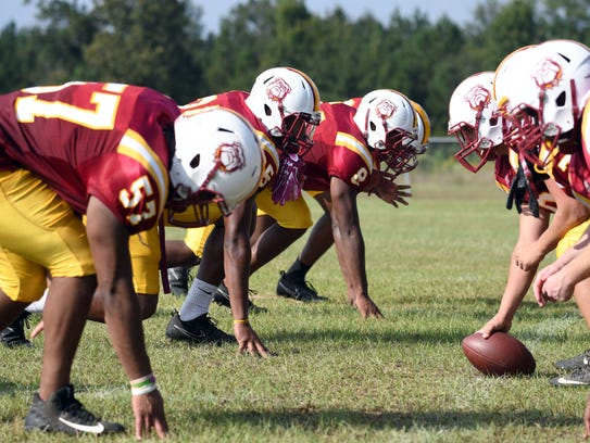 Perry Central's starting defensive line has combined