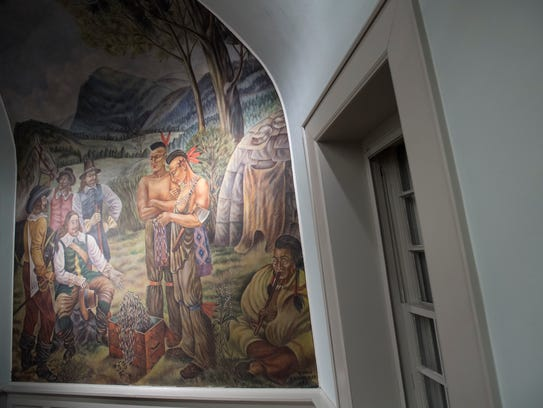 Oakland's library – boarded up the last 15 years without heat – has received a complete facelift, including restoration of a New Deal-era mural by Russian-born artist Giorgi Manuilov.