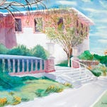 """UTEP's Centennial Museum"" by Dorian Clouser, who is the featured artist for August at Sunland Art Gallery."
