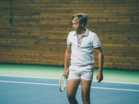 "Swedish tennis star Leo Borg plays his famous father Björn Borg as a rising tennis star in Sweden with a temper in ""Borg vs McEnroe."""