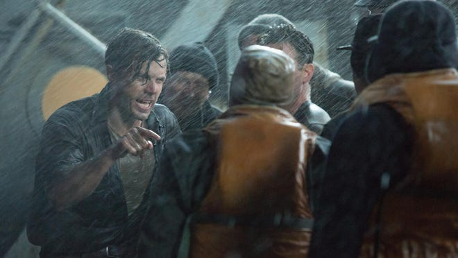 """Ray Sybert (Casey Affleck) struggles to keep his ship, the SS Pendleton, from sinking in Disney's """"The Finest Hour."""""""