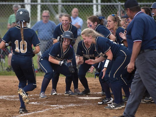 Essex softball celebration