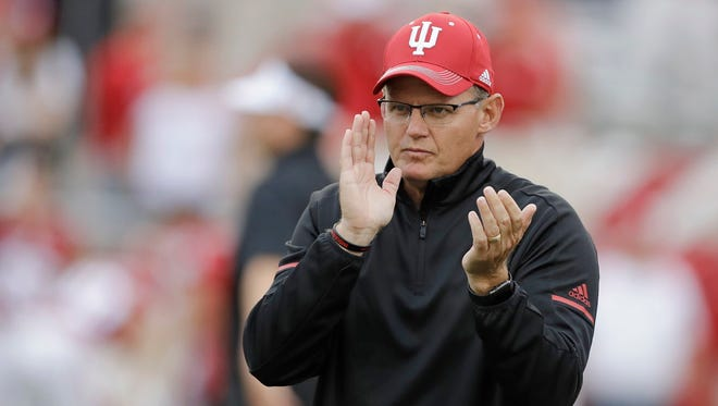 Indiana coach Tom Allen is just 3-6 in his second season, but he has the Hoosiers playing better.